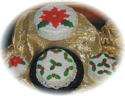 Assorted Christmas Cakes